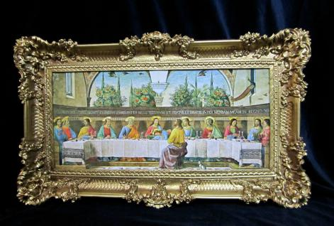 Gemälde Abendmahl Jesus Christus 97x57 Heilige Bilder Leonardo da Vinci 3074