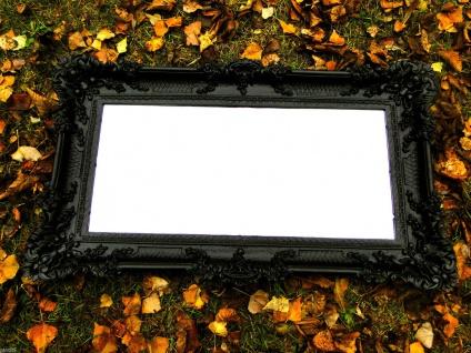 Wandspiegel Barock SCHWARZ Spiegel Wanddeko BADSPIEGEL DEKO 97x57 Groß