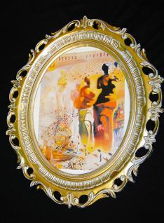 Wandbild Frau GEMÄLDE Frau Bild mit Rahmen/Bilderrahmen Barock Antik Rahmen Oval
