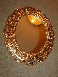 Wandspiegel Spiegel BAROCK Antik GOLD 45x38 Oval Badspiegel Rahmen mirror neu
