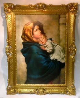 Heilige Maria Bild Kunstdruck Heiligenbild Muttergottes Maria mit Jesus Christus