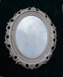 Wandspiegel Spiegel Antiksilber Antik barock 58x68 cm Modern Oval rokoko 41 8