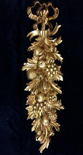 Wanddeko Barock Wandbehang Gold Wandrelief Deko 60x18cm Antik Tannenbaum C1501