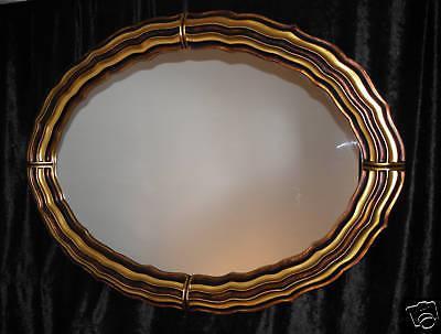 Wandspiegel XXL Spiegel Oval Retro 125x95 Rahmen Gold Mirror