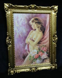 Gemälde Akt Erotik Damen Bild Sexy Frauen nackte Frau 90x70 Deko Bild Damen Rosa
