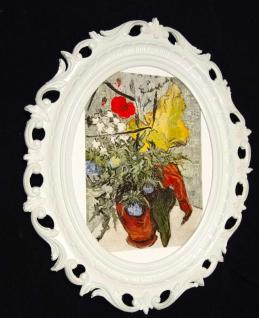 Van GOGH Gemälde Blumen Wandbilder Blumen 68x58 Bilderrahmen Weiß Y840