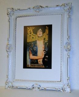 Bild mit Rahmen xxl Gemälde 90x70 JUDITH Akt Erotik KLIMT Wohnzimmerbild