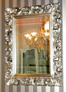 Wandspiegel Silber barock Flur/Friseurspiegel 120x 90 Spiegel Modern Rokoko