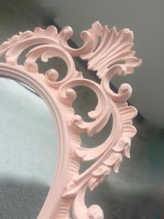 Wandspiegel Rosa Antik Oval 43x27 Schminkspiegel Bad-Friseurspiegel C531
