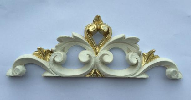 Wanddeko Barock Wandbehang ivory Gold Deko 19x6, 5 Wandrelief Deko Antik C1538