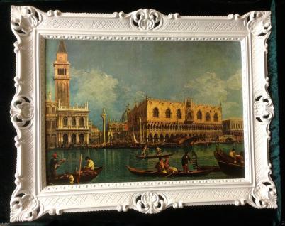 Venedig Bild GONDOL Gerahmte Gemälde 90x70 VENEDIG NOSTALGIE GONDOLFAHRT