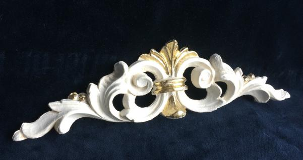 Wanddeko Barock Wandbehang ivory Gold Deko 24, 5x6, 5 Wandrelief Deko Antik C1537