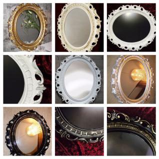 Wandspiegel Spiegel groß 58x68 BAROCK Antik Oval Badspiegel deko Modern mirror