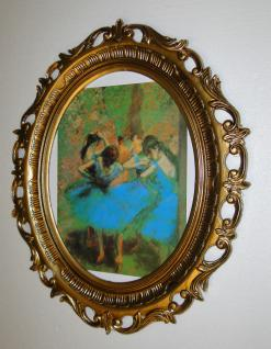 Bild TÄNZERIN Ballerinas Wandbild FRAU 58x68 Bilderrahmen groß Jugendstil
