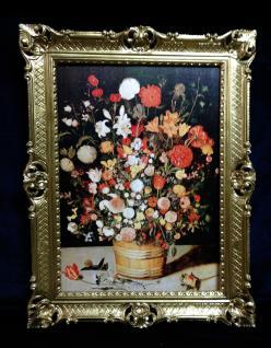 Blumen Gerahmte Gemälde 90x70 Bild mit Blumen Bilder mit Rahmen 01-02 Blumen