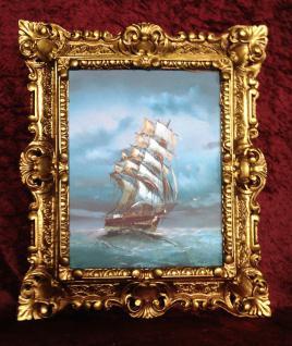 Bild Kunstdruck Meer Maritime Schiffe 45x38 Gemälde Segelschiff Höher See Stück