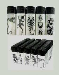 50 Feuerzeuge mit tattop Motiv nachfüllbare lighter NEU Feuerzeug
