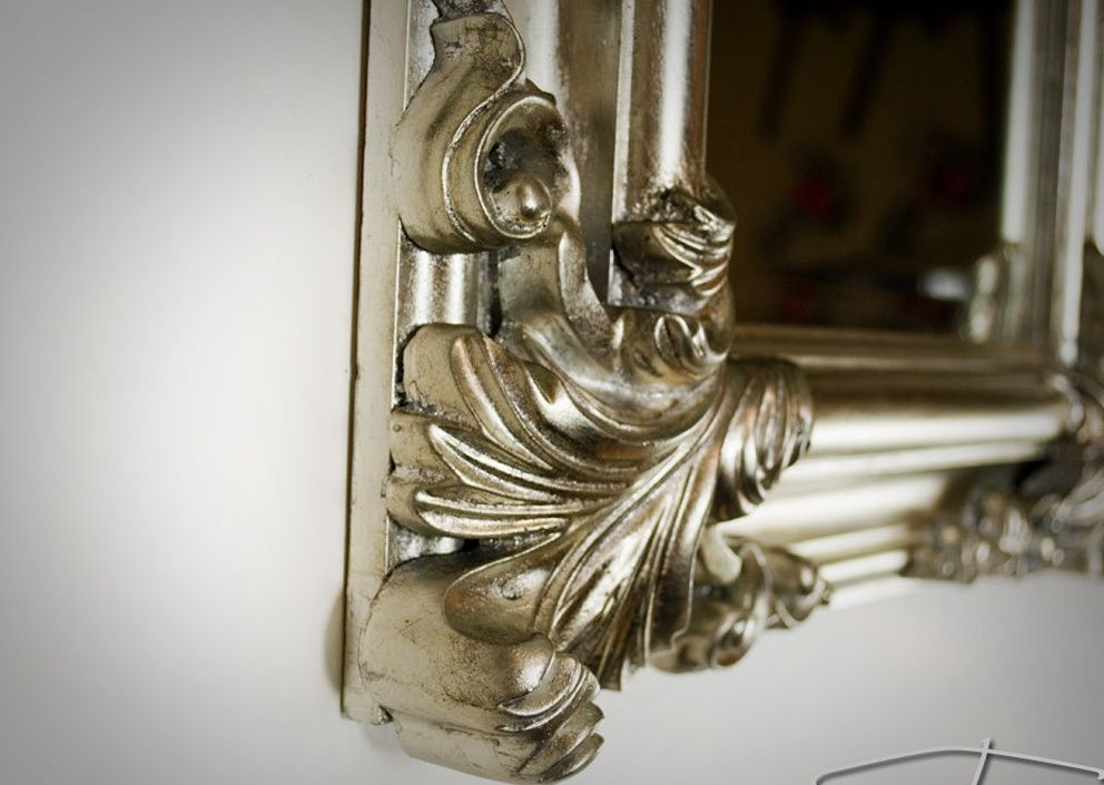 wandspiegel antik silber spiegel barock rechteckig wand. Black Bedroom Furniture Sets. Home Design Ideas
