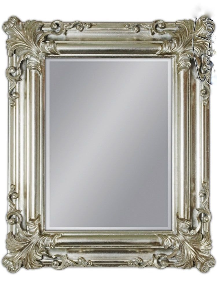 wandspiegel antik silber spiegel barock rechteckig wand deko 60x50 badspiegel kaufen bei. Black Bedroom Furniture Sets. Home Design Ideas