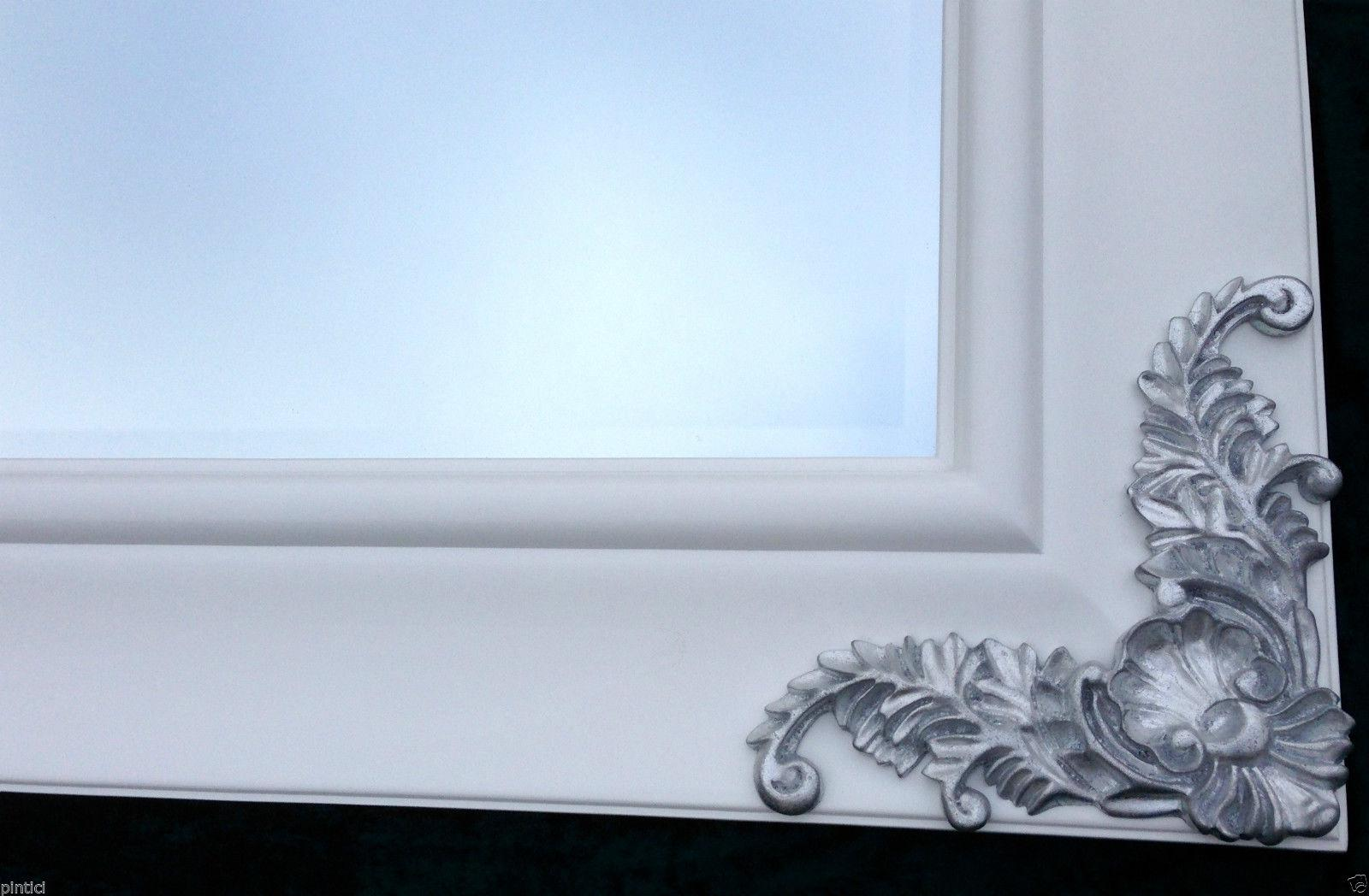 wandspiegel wei silber gro holz180x80 barock wei friseurspiegel flurspiegel kaufen bei. Black Bedroom Furniture Sets. Home Design Ideas