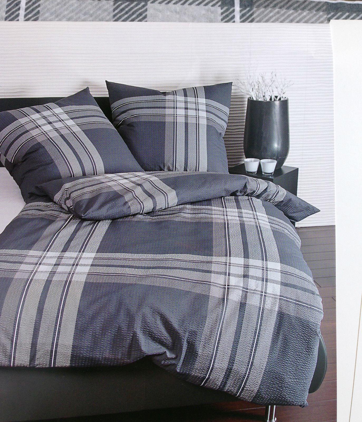 bettw sche grau kariert m belideen. Black Bedroom Furniture Sets. Home Design Ideas