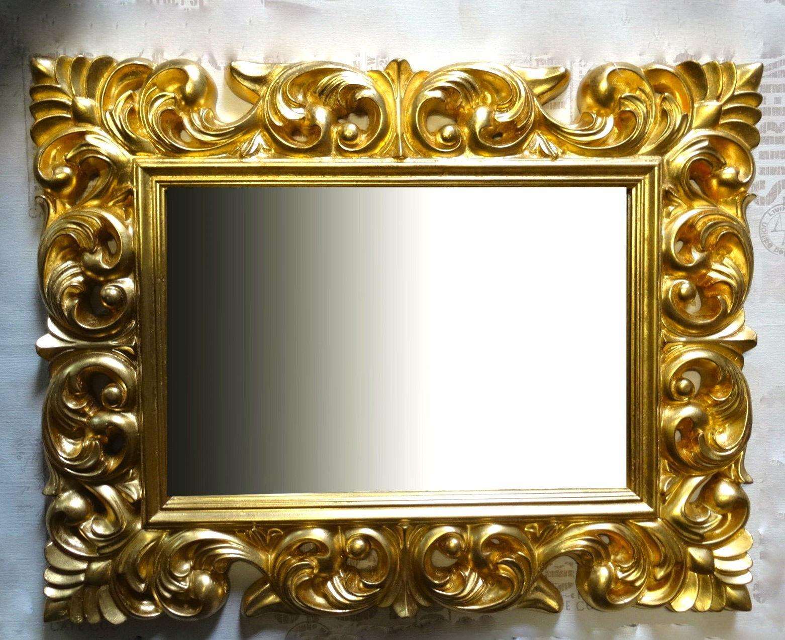 Großer Barock Wandspiegel Ornament 70x90 Standspiegel