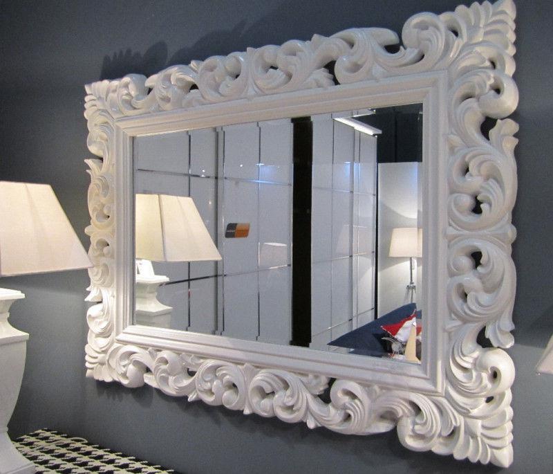 gro er barock wandspiegel ornament 120x90 standspiegel spiegel weiss flurspiegel kaufen bei. Black Bedroom Furniture Sets. Home Design Ideas