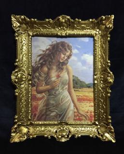 Akt Erotik Gemälde gerahmte Bild 56x46 Frau Nackt Bild mit Rahmen Die Frauen 03