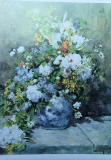 Blumen Bilder 70x50 Rosen in Weiß in Vase Bild auf MDF Platte Rahmenlos B15