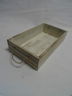 Tablett Shabby Landhausstil Holz Chic Serviertablett Weiß Neu Garten Deko