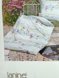 Bettwäsche Weiß Rosa Blume Janine Baumwolle 135x200+ 80x80 Mako Soft-Seersucker