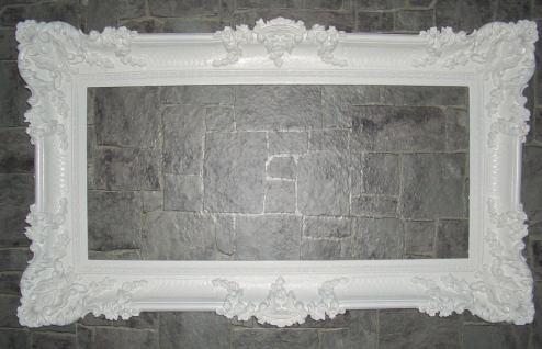Bilderrahmen hochzeit 96x57 Spiegelrahmen Gemälde Weiß Barock Antik Rahmen Foto
