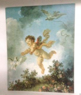Engel Bild Eros Wandbild 50x40 Kunstdruck auf MDF Engelbild Baby Schutzengel E1