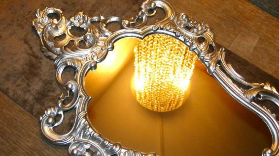Wandspiegel oval 76x50 Spiegel BAROCK Antik Badspiegel Rechteckig Silber mirror