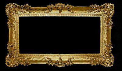 Großer Bilderrahmen xxl Barock Antik Gold 96x57 Bilderrahmen Barock Fotorahmen