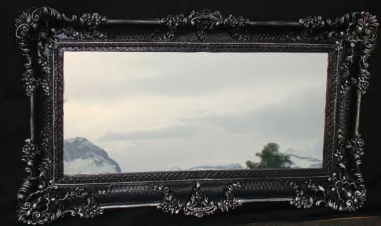 Wandspiegel Barock Spiegel Antik DEKO Badspiegel, Schwarz-Silber 97x57, 103074