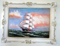 Gemälde Segelschiff Meer Bilder Schiffsbilder 90x70 Schiff auf HoherSee Nr71