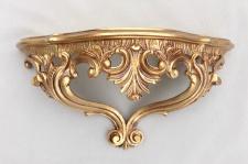 BAROCK Wandkonsole Spiegel KONSOLE 38x20x16 ANTIK Wandregal Gold 3083