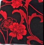 2x Kissenhüllen Kissenbezüge Sofakissen Rot-Schwarz 45x45cm blumen reißverschlup