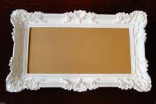Bilderrahmen Weiß Barock 96x57 Spiegelrahmen Gemälderahmen Hochzeitrahmen 3074