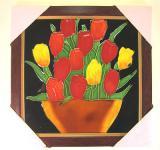 Wanddeko Wandbild Bilder zum Aufhängen Keramikbild HOLZ