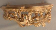 Wandspiegel Regal Ablage Konsole Barock Antik Ornament Gold 31x21x12 C73