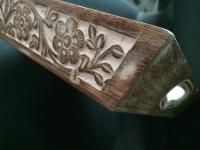 Tablett gross weiß-braun Shabby Deko Ornament Ranaissance Serviertablett L