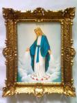 Mutter Maria 56cm Madonna Antik Rahmen Jesus Christus Maria Mutter Gottes Heilig