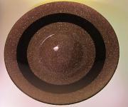 Dekoschale Obstschale Glitzernde in BRAUN 38cm x 6cm