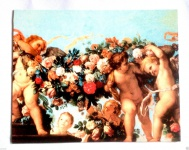 Engel Bild Rosenbild 50x40 Kunstdruck auf MDF Platte Schutzengelbild Engelsbild