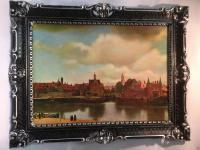 Gemälde See Landschaftsgemälde Meer Hafenstadt 90x70 Insel Wohnzimmerbild NR 19