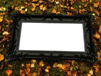 BAROCK Spiegel Wandspiegel Rechteckig Antik WANDDEKO Schwarz Matt 96x57 206 2