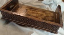 Serviertablett mit öffnung XL Holz Shabby Tablett kiste kasten Geschenk ablage