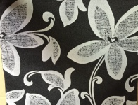 2x Ornamente Kissenhülle Kissenbezug 45x45 cm Sofakissen Anthrazit-Weiß blume